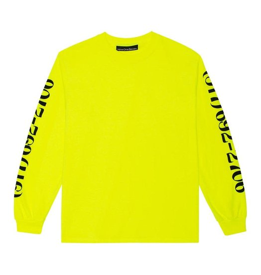 Call Me 917 Call Me 917 Dialtone Longsleeve T-shirt - Safety Green