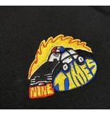 Ninetimes Ninetimes Embroidered Fast Car Hoodie - Black