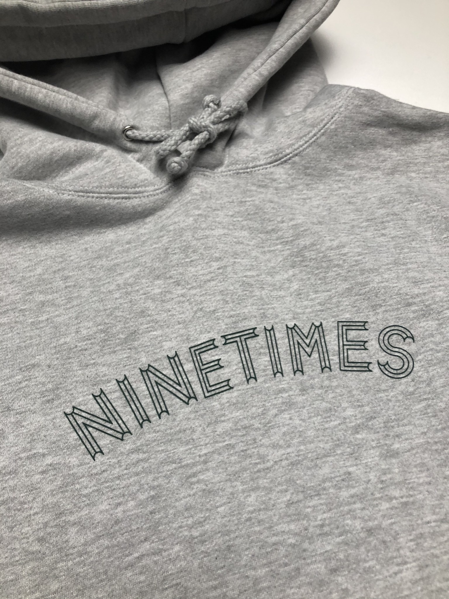 Ninetimes Ninetimes OG Arch Hoodie - Heather Grey