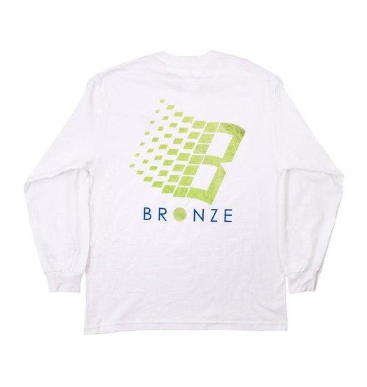 Bronze 56K Bronze 56K B-Logo Tennis Longsleeve - White
