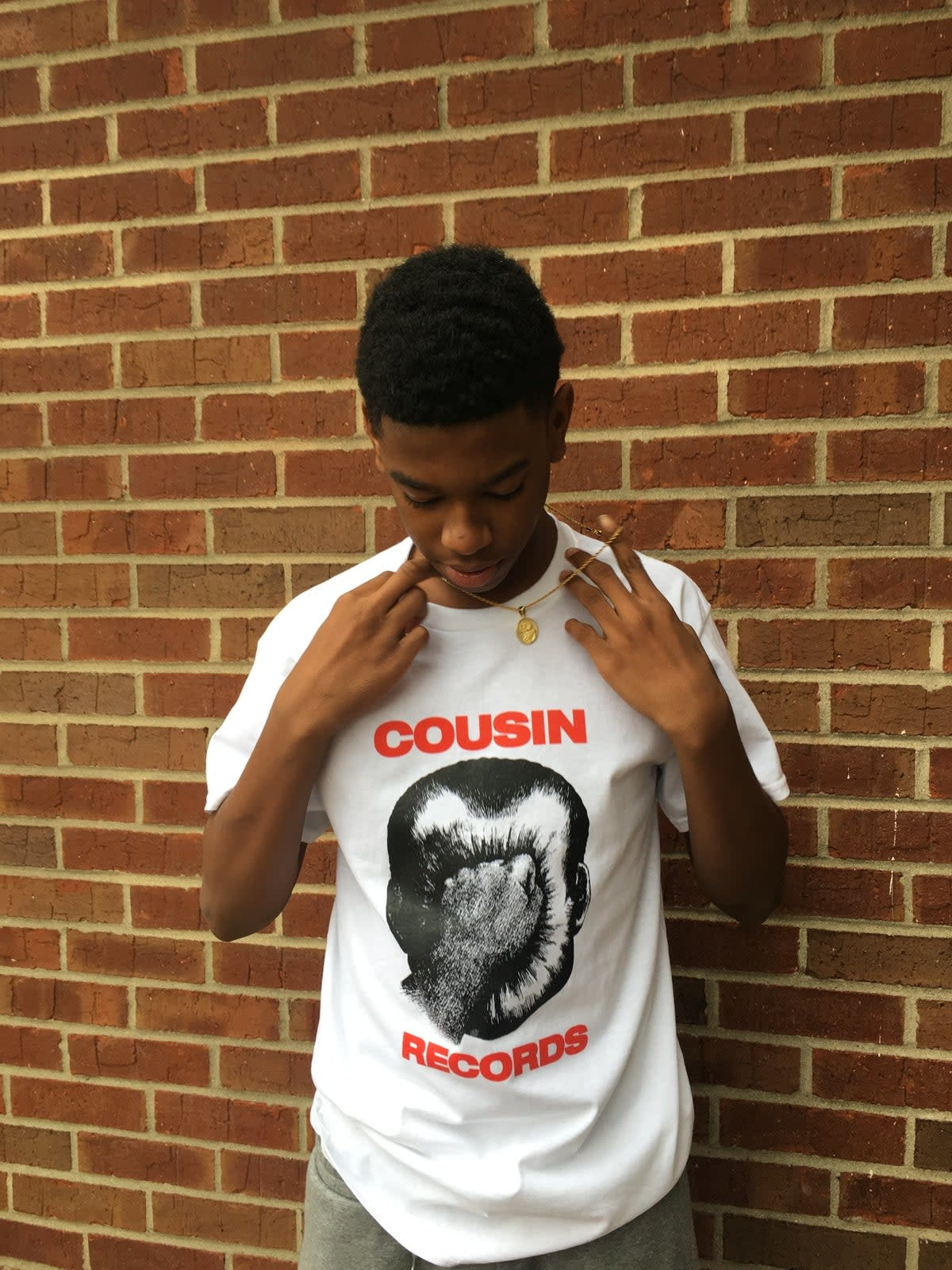 Cousin Records Cousin Records Nixon Punch Tee - White