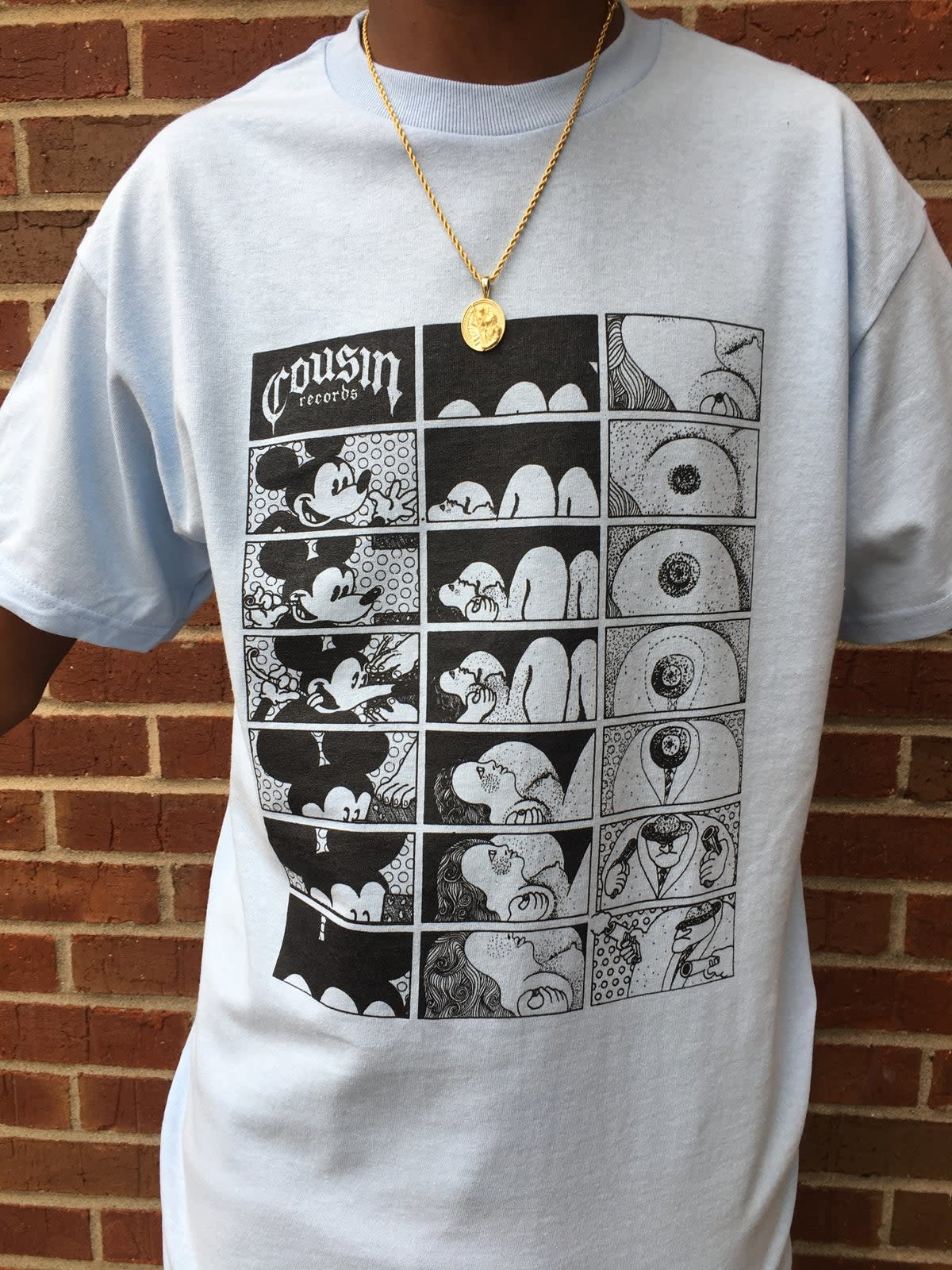 Cousin Records Cousin Records Toon Seq Tee - Baby Blue
