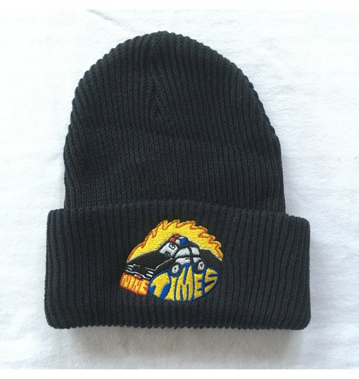 Ninetimes Ninetimes Embroidered Fast Car Beanie - Navy