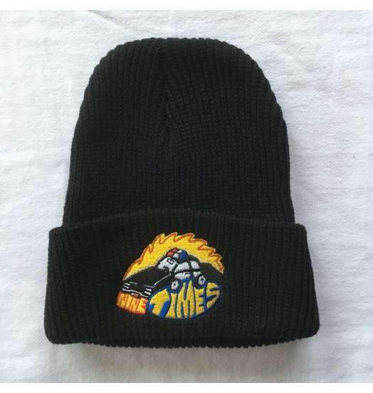 Ninetimes Ninetimes Embroidered Fast Car Beanie - Black