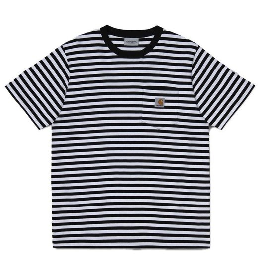 Carhartt WIP Carhartt WIP Haldon Striped Pocket Tee - Black/White