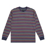 Brixton Brixton Hilt L/S Pocket Tee - Washed Navy/Lava Red