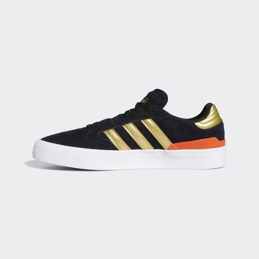 Adidas Adidas Busenitz Vulc II Shoes - Black/Gold Metallic/Solar Red