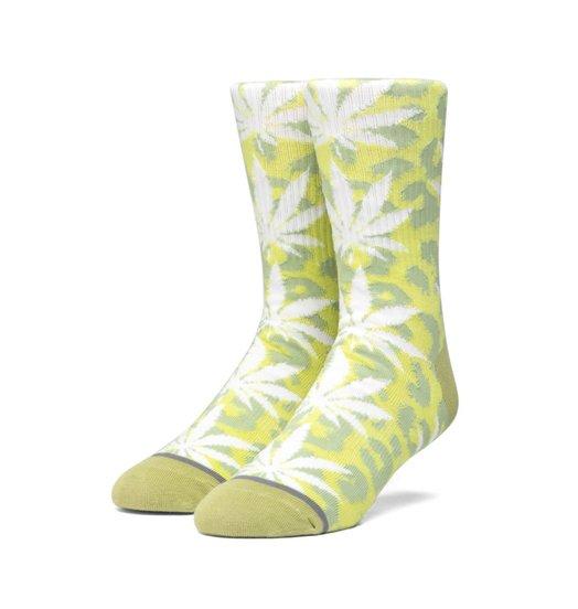 HUF Huf Neo Leopard Plantlife Socks - Hot Lime