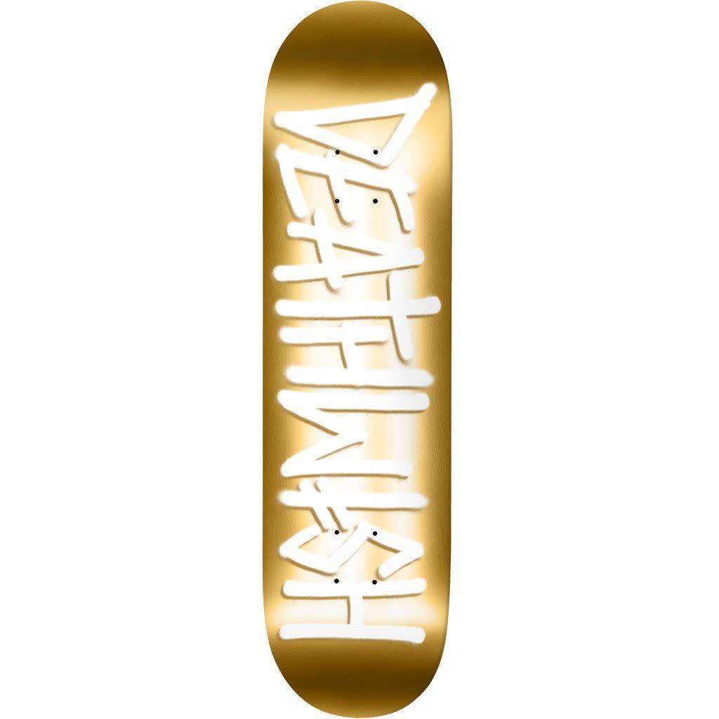 Deathwish Deathspray Gold/White Deck - 8.25