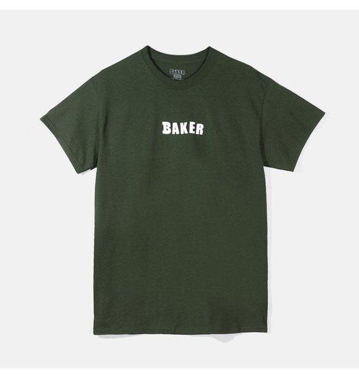 Baker Baker Brand Logo Tee - Forest Green
