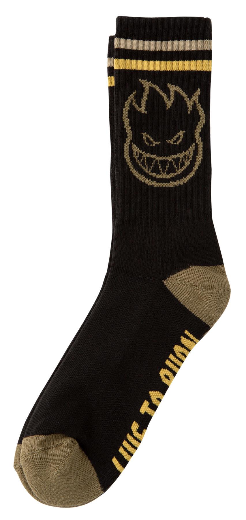 Spitfire Spitfire Bighead Sock - Black/Gold/Olive