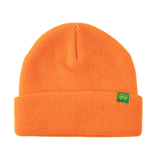 Krooked Krooked Eyes Clip Cuff Beanie - Orange/Green