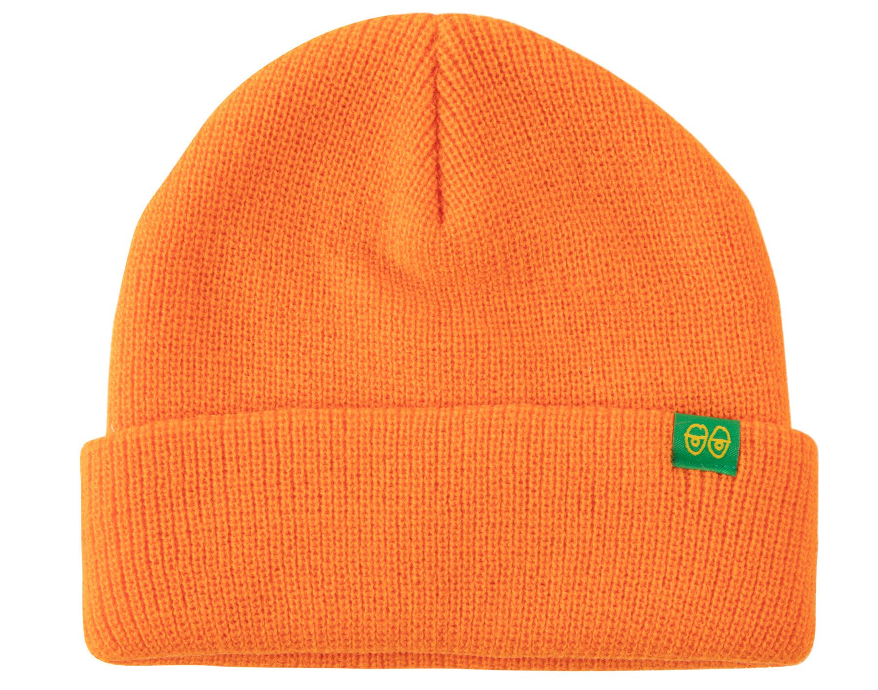 Krooked Krooked Eyes Clip Cuff Beanie - Orange/Green