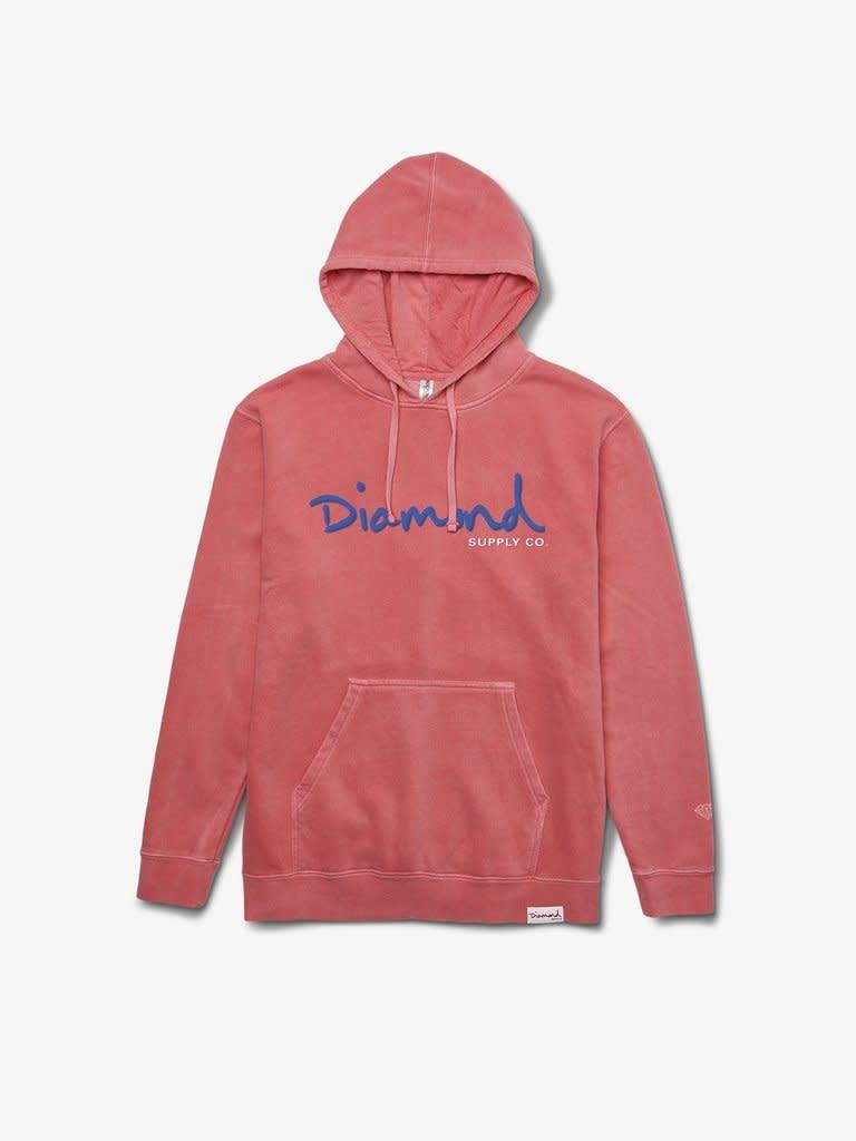 Diamond OG Script Overdyed Hoodie - Pink