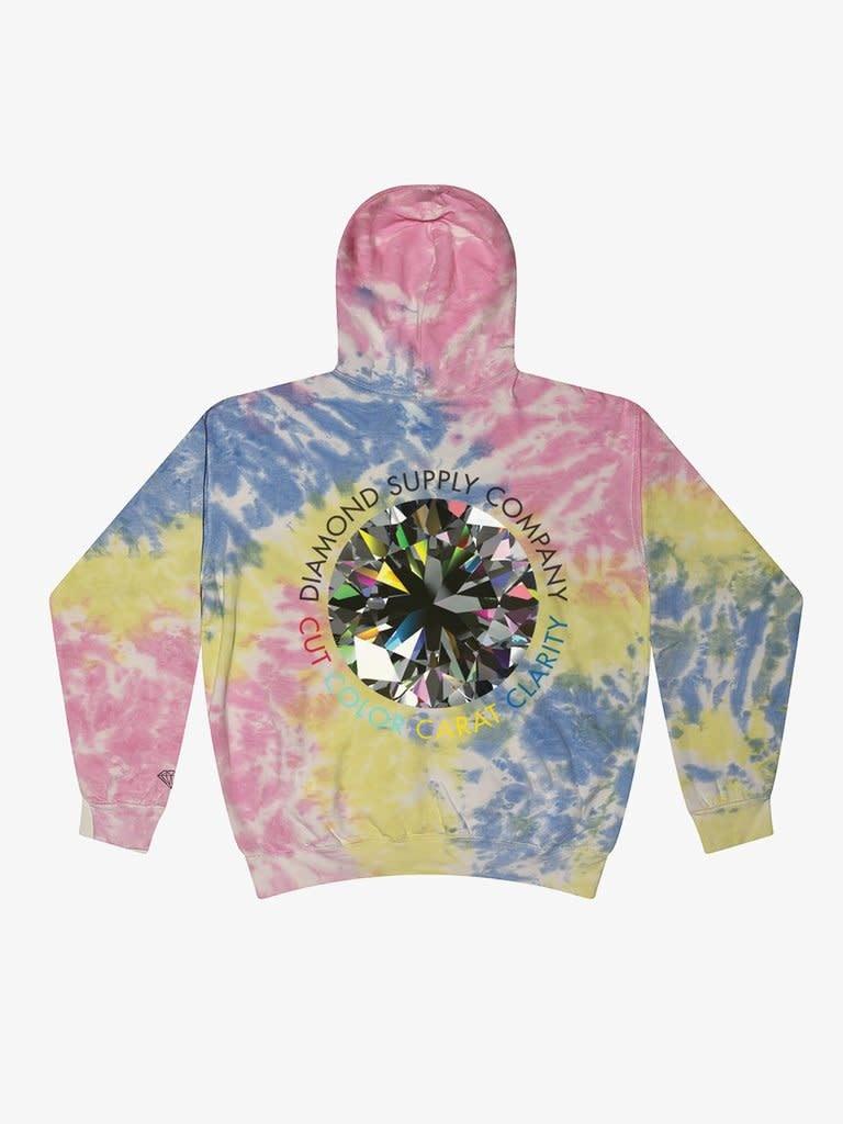 Diamond Clarity Tie Dye Hoodie - Sherbert