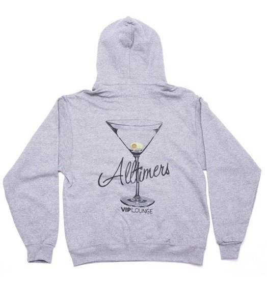 Alltimers Alltimers Watercolor Logo Hood - Grey