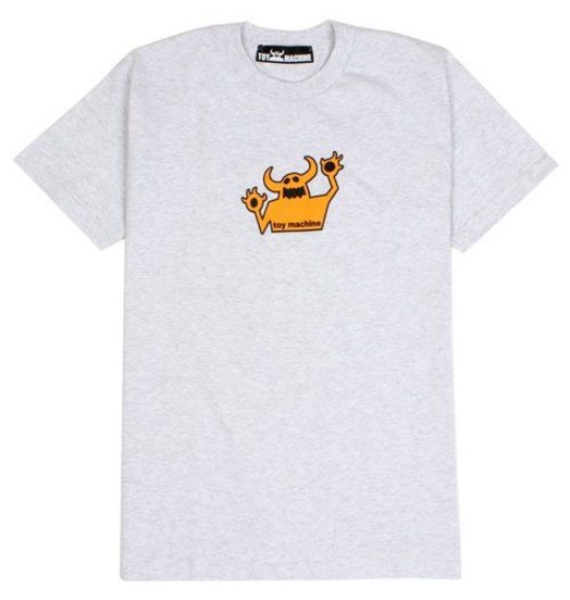 Toy Machine Sneeze Toymachine Orange on Ash Tee M