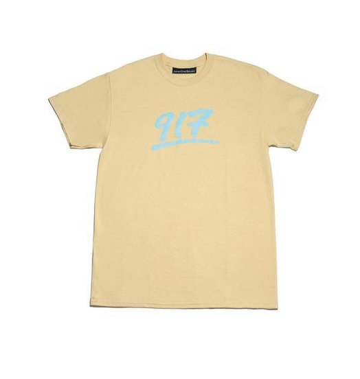 Call Me 917 Nine One Seven Godfather Tee - Creme