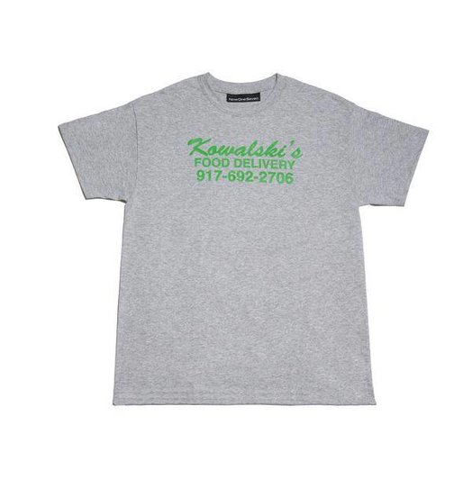 Call Me 917 Nine One Seven Food Delivery Tee - Grey