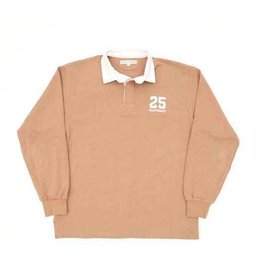 Quartersnacks Quartersnacks 25 Rugby Shirt - Light Tan