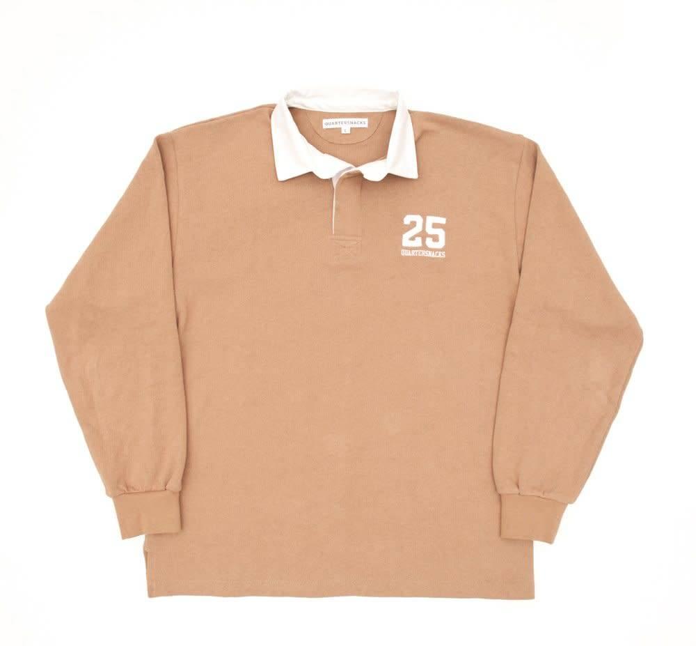 Quartersnacks Quartersnacks 25 Rugby Shirt - Light Tan