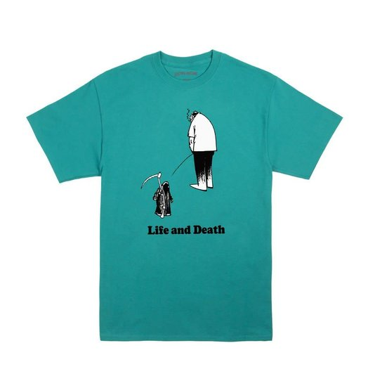 Fucking Awesome Fucking Awesome Life And Death Tee - Jade Green