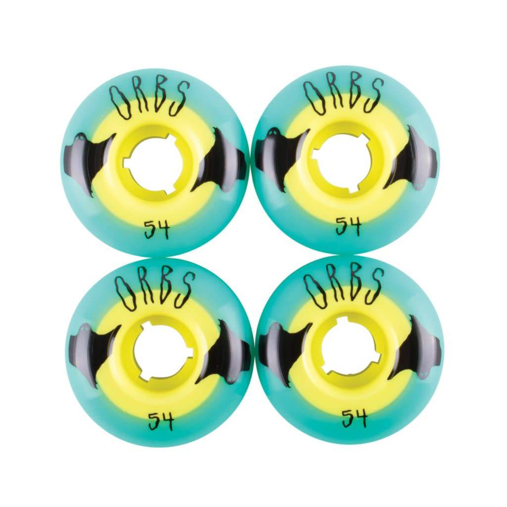 Welcome Welcome Orbs Poltergiest Wheels - 54 Teal/Yellow