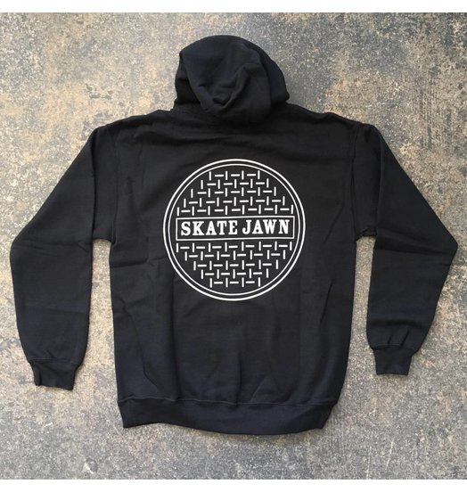 Skate Jawn Sewer Cap Hoodie - Black