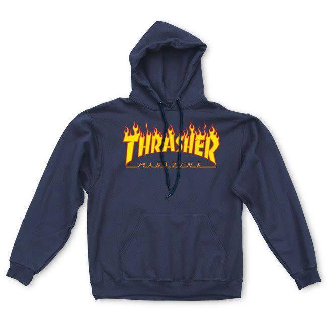Thrasher Thrasher Flame Logo Hoodie - Navy