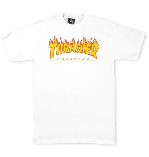 Thrasher Thrasher Flame Logo Tee - White