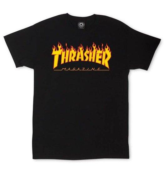 Thrasher Thrasher Flame Logo Tee - Black