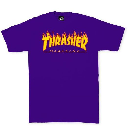 Thrasher Thrasher Flame Tee - Purple