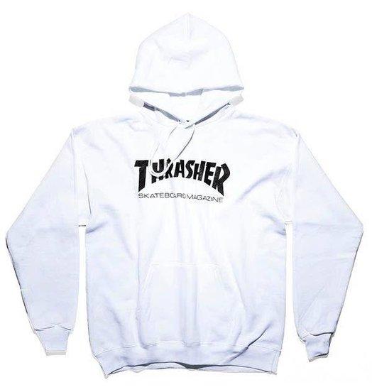 Thrasher Skate Mag Hoodie - White