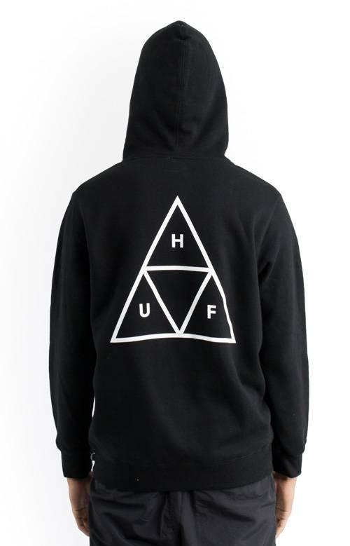 kup najlepiej podgląd informacje o wersji na Huf Triple Triangle Hoodie - Black