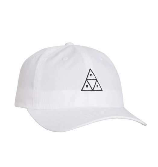 HUF Huf Triple Triangle Curved Visor Hat - White