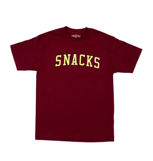 Quartersnacks Quartersnacks Snacks Varsity Tee - Burgundy