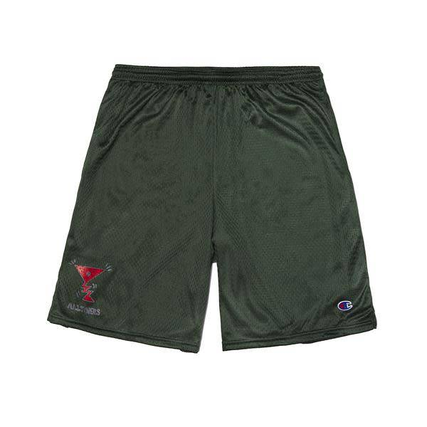 Alltimers Alltimers Action Logo Mesh Shorts - Forest Green