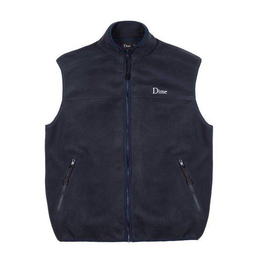 Dime Dime Polar Fleece Vest - Navy