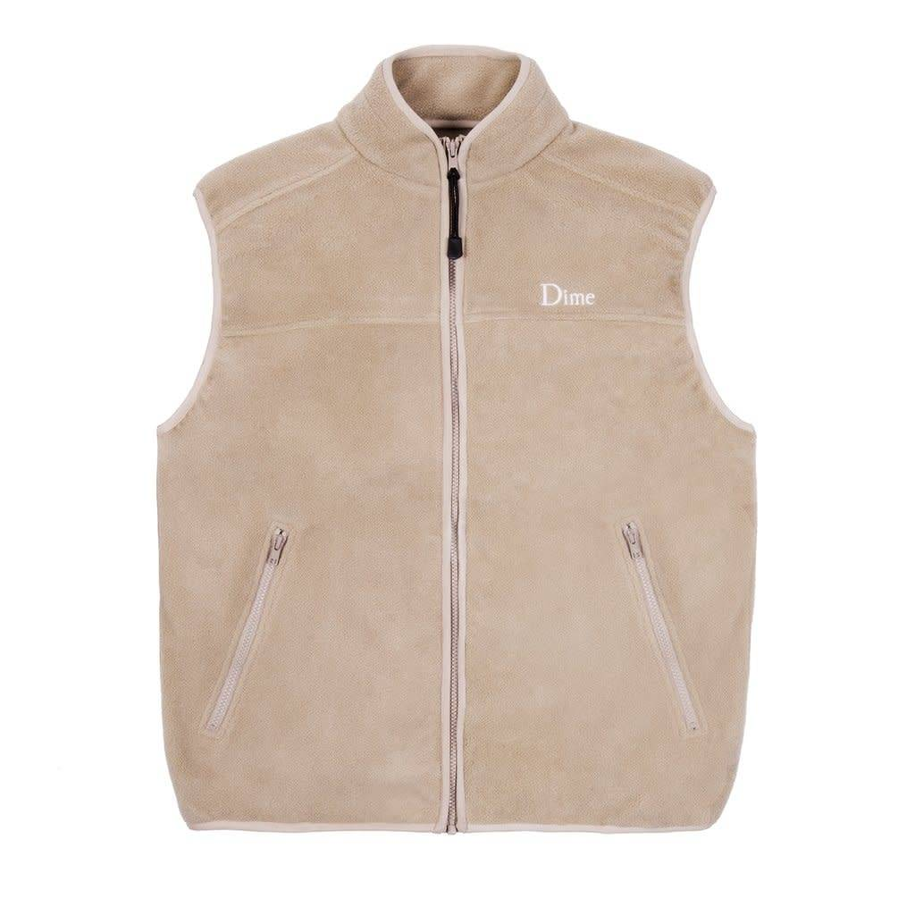 Dime Dime Polar Fleece Vest - Tan