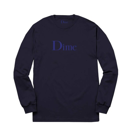 Dime Dime Classic Logo Longsleeve - Navy