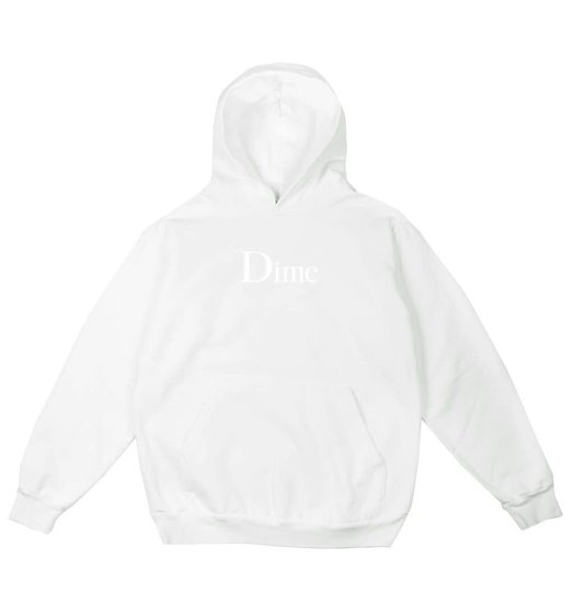 Dime Dime Classic Logo Hoodie - White