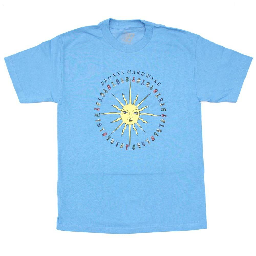 Bronze 56K Bronze 56K Peace Love And Hardware Tee - Carolina Blue