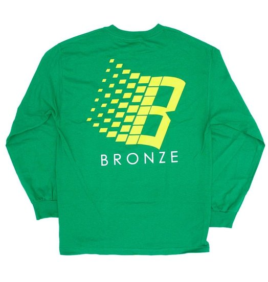 Bronze 56K Bronze 56K B Logo Longsleeve - Kelly Green/Yellow