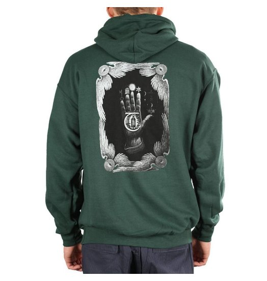 Theories Theories Hand Of Theories Hoodie - Green