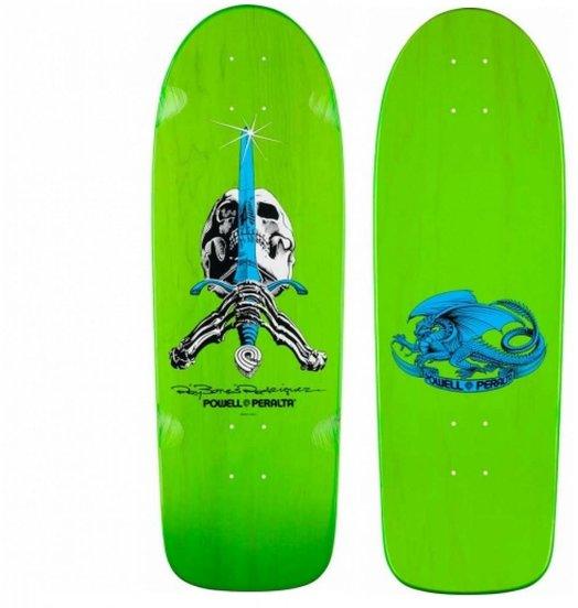 Powell-Peralta Powell Peralta - Rodriguez Skull & Sword Spoon Nose Deck 10 Green