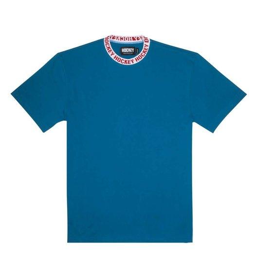 Hockey Hockey Knit Ringer - Electric Blue/White