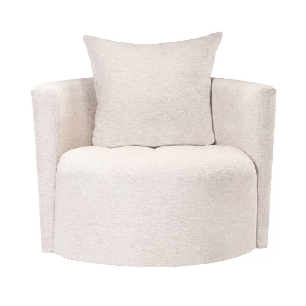 ROXIE SWIVEL CHAIR - WHITESAND