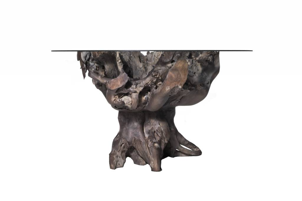 Teak Root Small Table - Grey