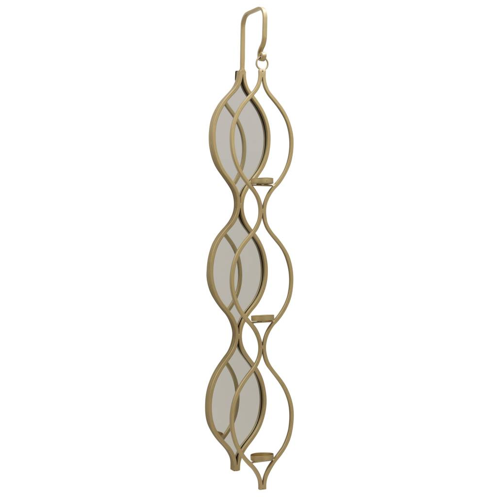 TOLLY WALL MIRRORED CANDLE HOLDER - GOLD