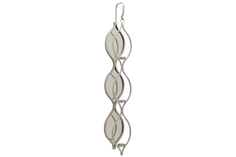 TOLLY WALL MIRRORED CANDLE HOLDER - SILVER